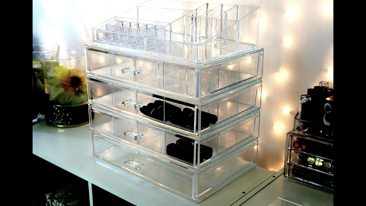 Clear Cube / Clear Acrylic Make Up Storage From T.J MAXX   YouTube