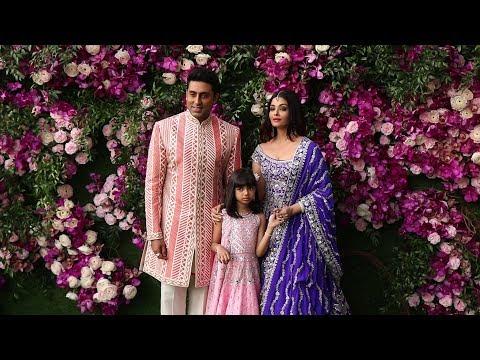 Abhishek Bachchan With Wife Aishwarya Rai & Daughter Aaradhya At Akash & Shloka Wedding 2019