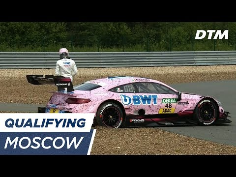 Mortara parks in the gravel - DTM Moscow 2017