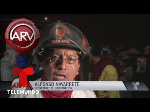 Llegada violenta en frontera entre México y Guatemala | Al Rojo Vivo | Telemundo