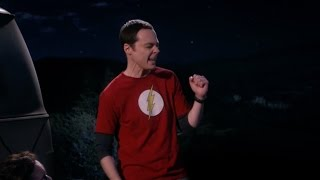 "Sheldon sings ""We will rock you"" - The big bang theory"