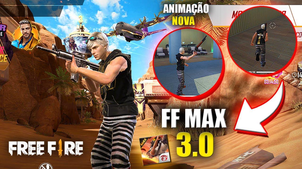 FUI O PRIMEIRO A JOGAR A NOVA VERSÃO DO FREE FIRE MAX 3.0