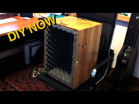 How To Build A Microphone Isolation Box Diy Now Youtube