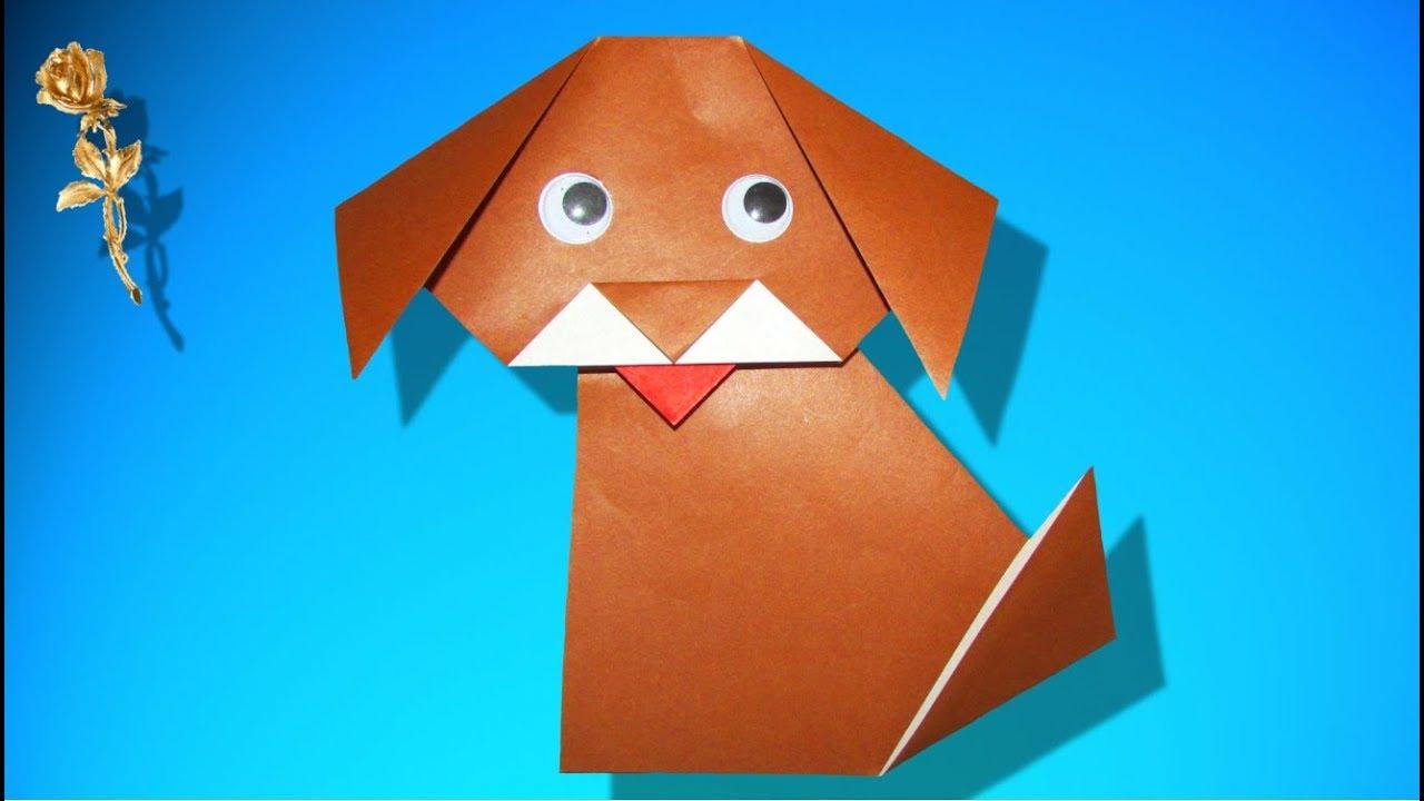 Origami Facile Chien Youtube