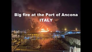 BREAKING NEWS | Big fire at the port of Ancona | Maxi incendio al porto di Ancona 16.09.2020 #Fire