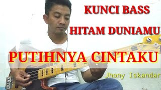 Download Hitam Duniamu Putihnya Cinta KU (Jhony Iskandar) cover bass_Lengkap kunci