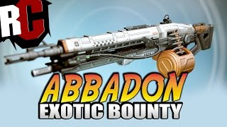 Destiny - How to get Abbadon Exotic Machine Gun (Hymns of Fire Exotic Quest Guide)