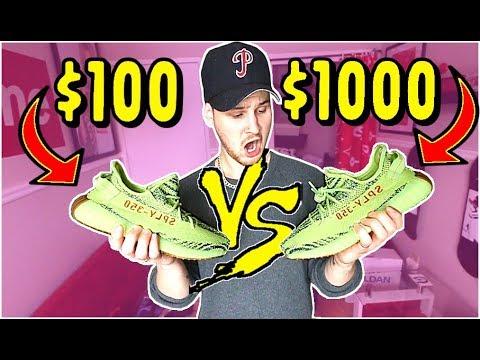 $100 YEEZYS VS $1000 YEEZYS.. IS BUYING FAKE YEEZYS WORTH IT??