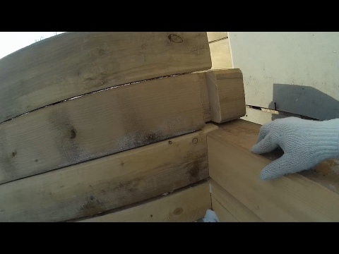 Дом из бруса | как выровнять брус с плохой геометрией смотреть видео онлайн
