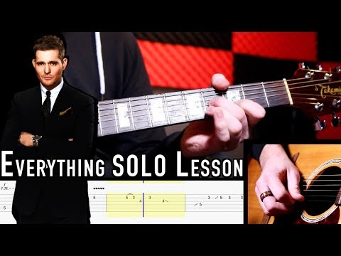 Everything by Michael Bublé | Acoustic Solo Lesson with TABS