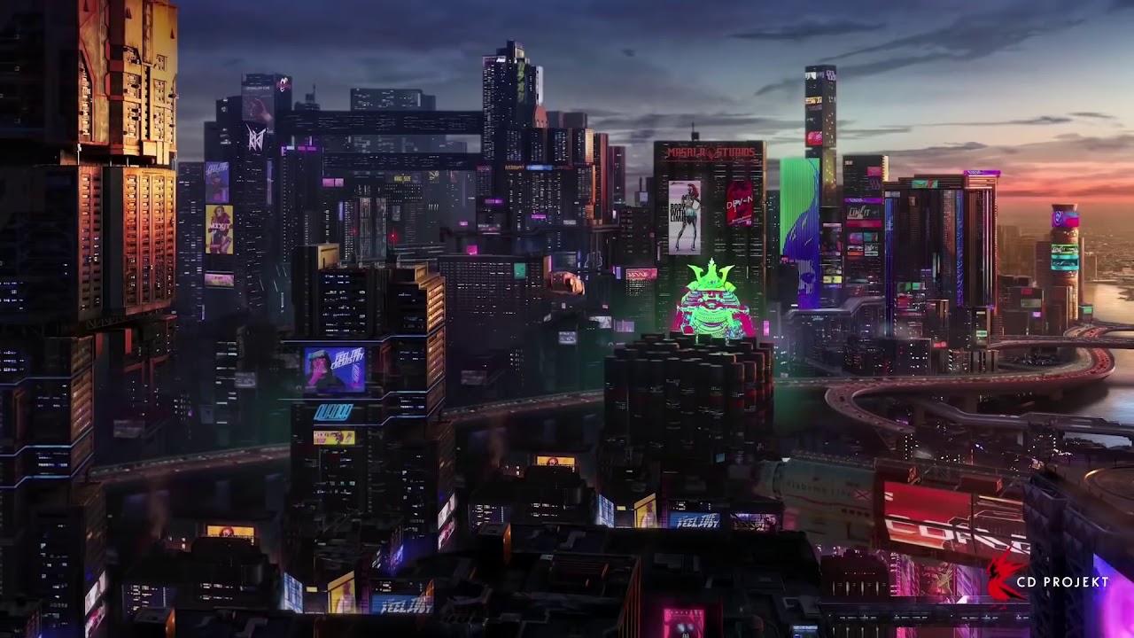 Cyberpunk 2077 Night City Live Wallpaper 1080p Teil 1 Youtube
