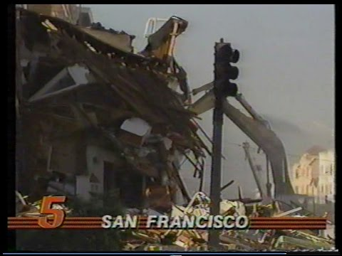 Loma Prieta Earthquake Aftermath, KPIX,  Oct. 18, 1989