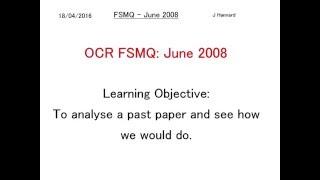ocr fsmq additional mathematics past paper 2 june 2008