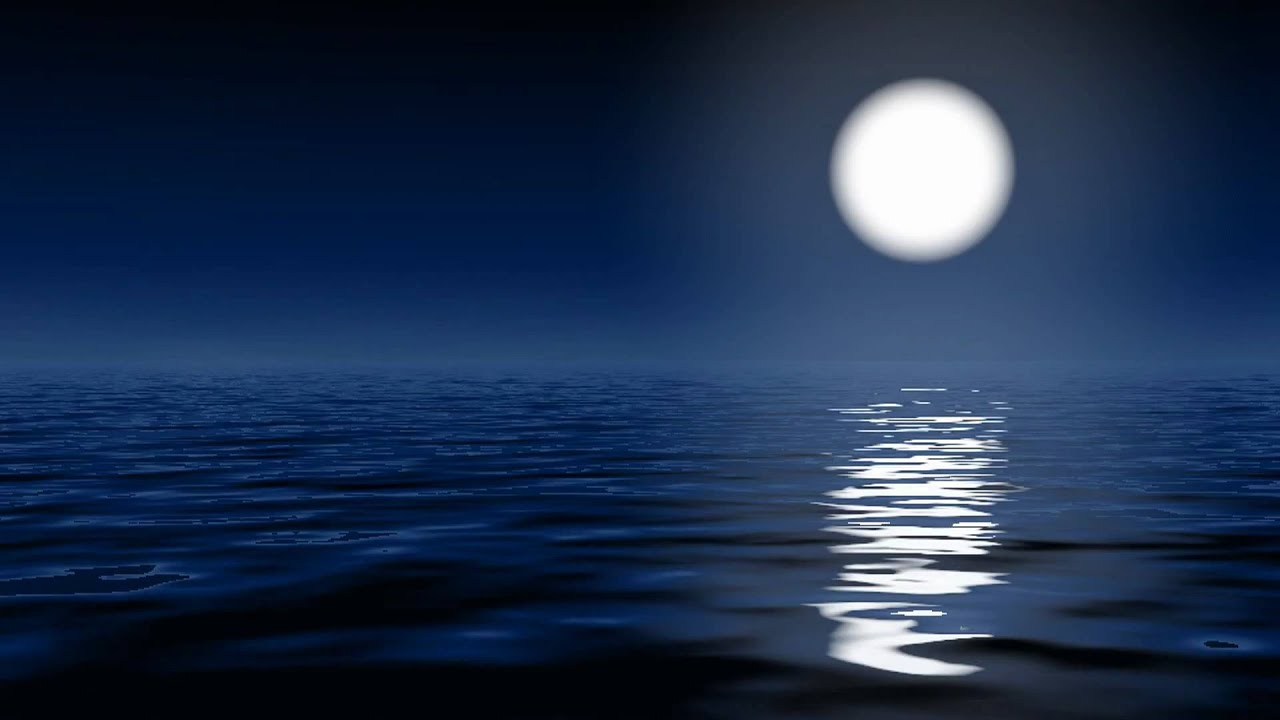 Beautiful Girl Hd Wallpaper For Pc Moonlight On The Ocean Youtube