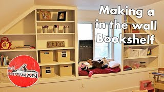 Building a in the wall bookshelf