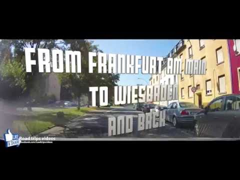 ROAD TRIP: HIGHWAY DRIVE (A66) from FRANKFURT am MAIN to WIESBADEN (Germany)