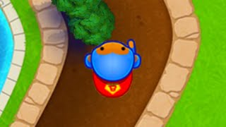 I tried using the super monkey in the highest arena again... (Bloons TD Battles)