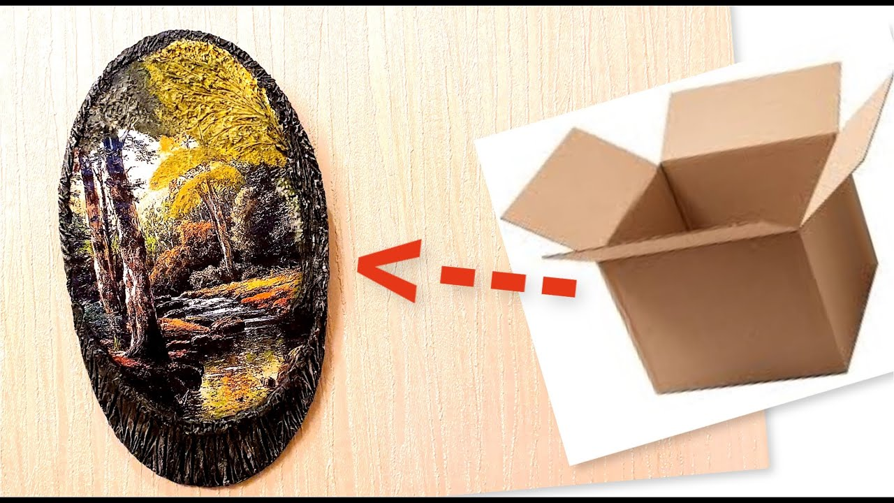 DIY/Home wall decorating idea with cardboard/Craft ideas with paper and cardboard