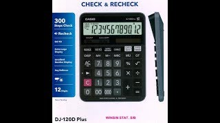 Casio MJ-120D Plus Basic Calculator | Unboxing and Product Review