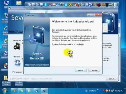 COMO TENER WINDOWS 7 EN XP (seven remix xp)
