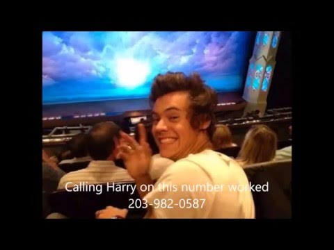 Harry Styles phone number 2016 real