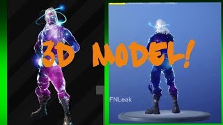 *NEW* GALAXY SKIN IN FORTNITE *BEFORE YOU BUY* - (3d Model) Fortnite Battle Royale!