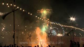 Burning of Ravana effigy during Dussehra festival at Lal quila maidan