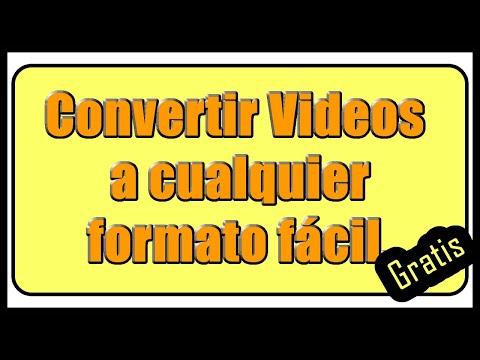 Convertir videos a cualquier formato (mp3, mp4, wmv, avi, hd, audio)✅🎥