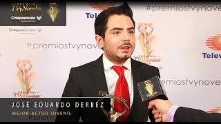 José Eduardo Derbez - Mejor actor juvenil Premios TVyNovelas 2015