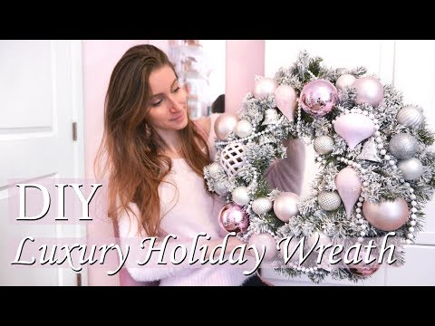 DIY LUXURY PINK HOLIDAY WREATH FOR UNDER $25