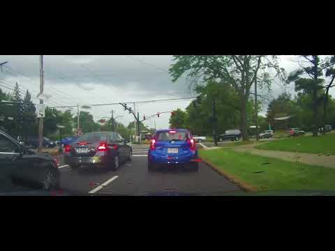 Driving on Shaker Boulevard in Shaker Heights and Cleveland, Ohio