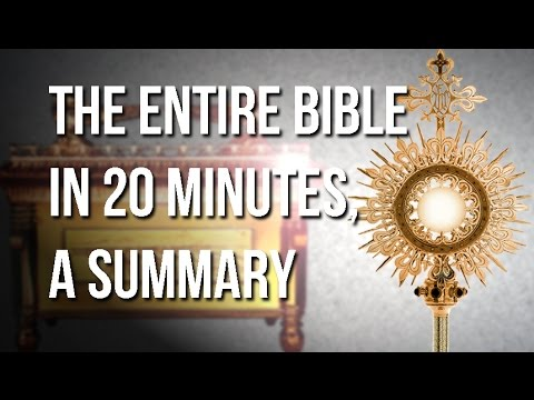 Learn The Bible In 20 Minutes, From Genesis To Revelations.