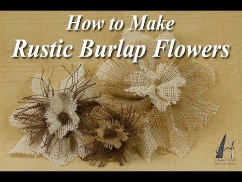 How To Make Rustic Burlap Flowers YouTube