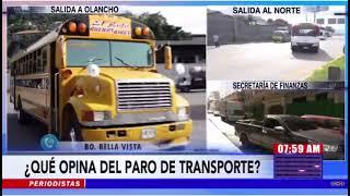 ¡En medio del repudio del pueblo! Transportistas inician paro en la capital