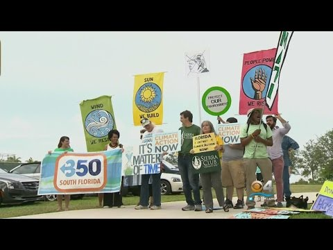 Environmental Groups Gather In Downtown To Decry US Withdrawal From Paris Deal