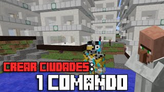 TRUCOS MINECRAFT | COMO CREAR CIUDADES CON SOLO 1 COMANDO