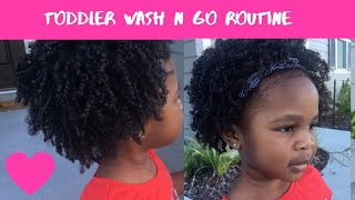 Toddler Wash n Go || Curly Hair Routine ||