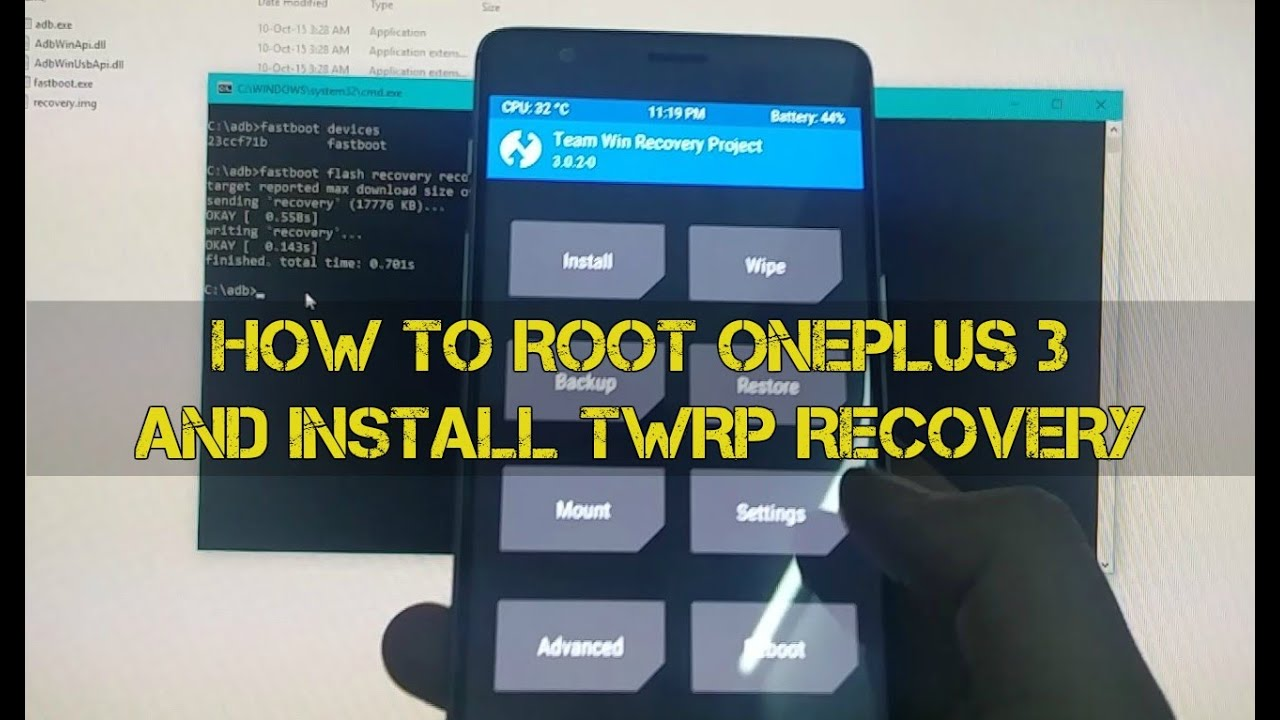 Steps to Root OnePlus 3 and Install TWRP Recovery