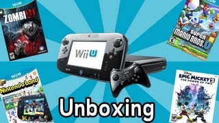 Wii U Unboxing + Games and Controllers