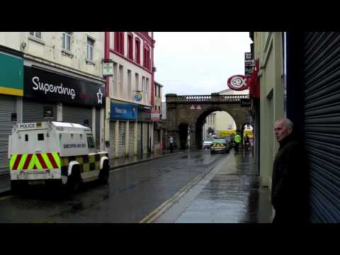 Bomb blast in Derry city centre 21 May 2011