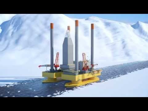 Zentech Semi-Submersible Jackup Drilling Rig for Polar Waters