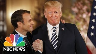 How The Trump-Macron 'Bromance' Blossomed At This State Visit | NBC News