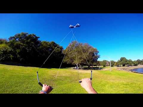 Revolution NYM 3 Vent kite flying along Bay Run, Iron Cove (Normal Speed Intro) with Frankie