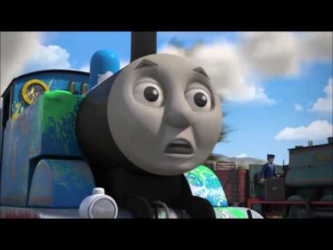 Thomas and Friends - The Great Race - Thomas jumps the bridge (US sped up)