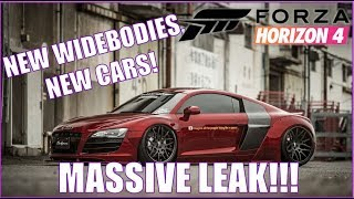 Massive Leak! NEW WIDEBODIES, NEW CARS Forza Horizon 4