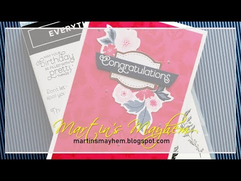 Congratulations - Stampin' Up! Everything Is Rosy