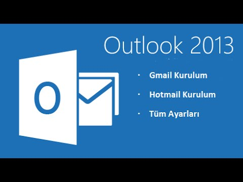 Outlook 2013 Hotmail ve Gmail Kurulumu