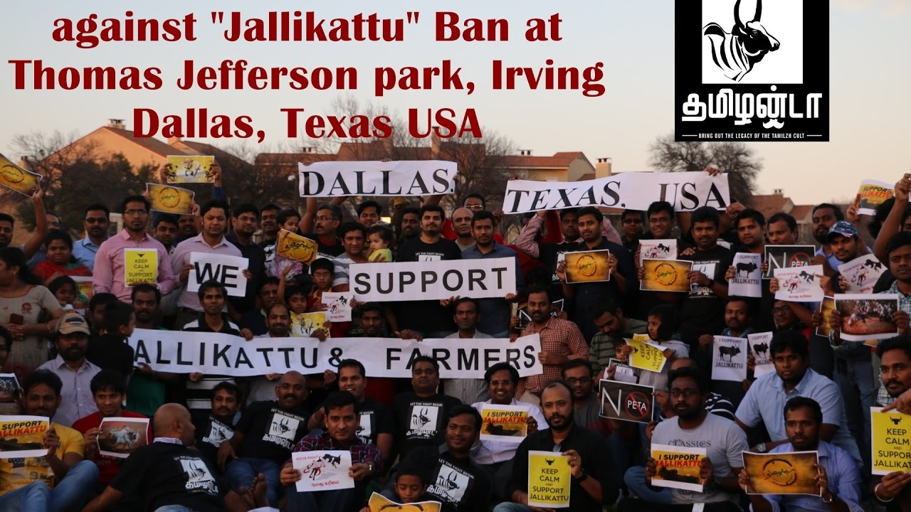 """I Support Jallikattu: Intro by Hosts Gomathy and Deni at Desiplaza Studios,Irving,Texas."