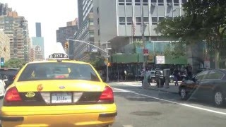 Driving Up 1st Avenue New York City. Manhattan