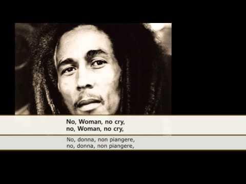 Bob Marley - No Woman No Cry (Sottotitoli, Testo, Traduzione)